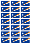 Marshall Islands Flag Stickers - 21 per sheet